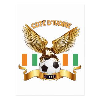 Diseños del fútbol del d'Ivoire de Cote Tarjeta Postal