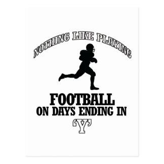 diseños del fútbol postales
