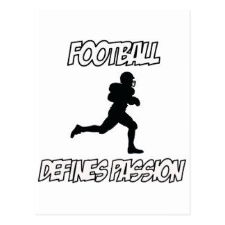 diseños del fútbol tarjeta postal