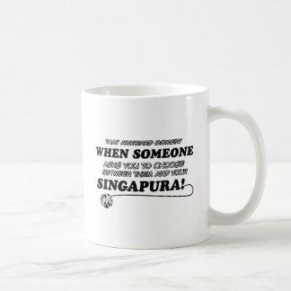 Diseños del gato de SINGAPURA Taza