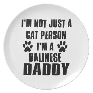 Diseños del gato del camisetas del Balinese Platos