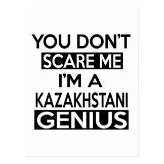 DISEÑOS DEL GENIO DE KAZAKHSTANI TARJETAS POSTALES