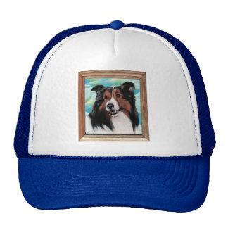 Diseños del gorra de la pintura de Sheltie