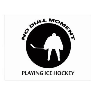 diseños del hockey sobre hielo postal