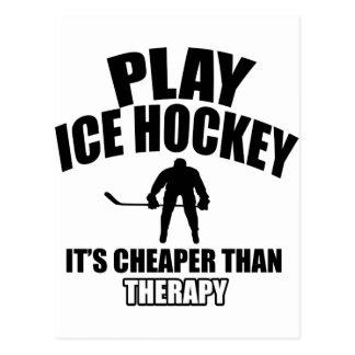 Diseños del hockey sobre hielo tarjeta postal