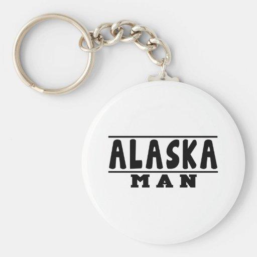 Diseños del hombre de Alaska Llavero