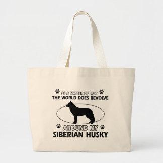 diseños del husky siberiano bolsa