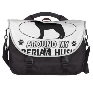 diseños del husky siberiano bolsas para portátil