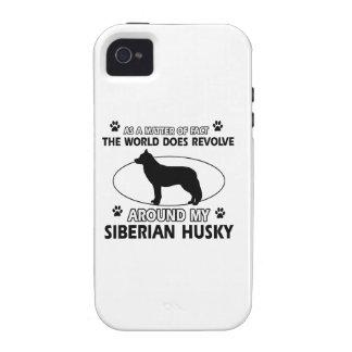 diseños del husky siberiano iPhone 4 carcasas