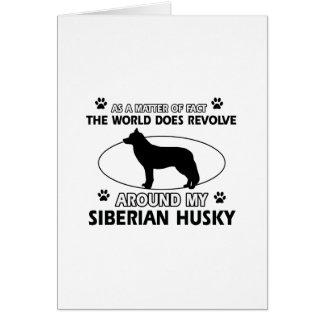 diseños del husky siberiano tarjeta de felicitación