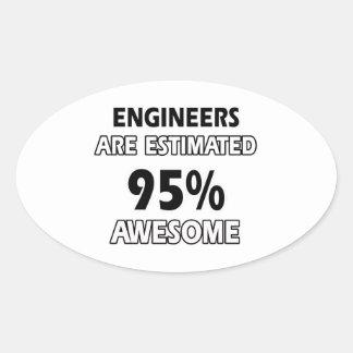 diseños del ingeniero calcomanías de ovaladas