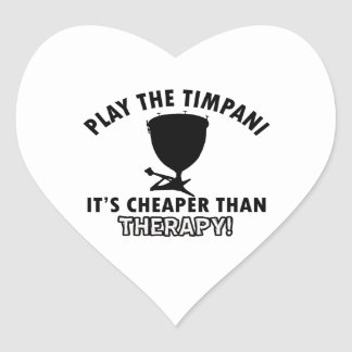 Diseños del instrumento del TIMPANI Pegatina En Forma De Corazón