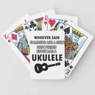 Diseños del instrumento musical del Ukulele Cartas De Juego