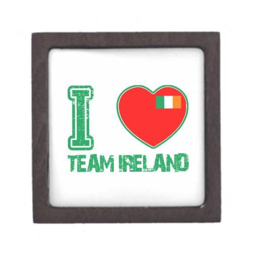 Diseños del irlandés caja de joyas de calidad