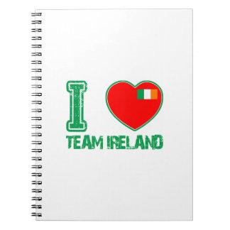 Diseños del irlandés libretas