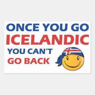 Diseños del islandés pegatina rectangular