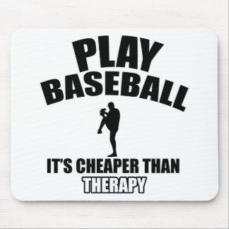 Diseños del jugador de béisbol tapetes de ratón