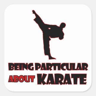 diseños     del karate pegatina cuadrada
