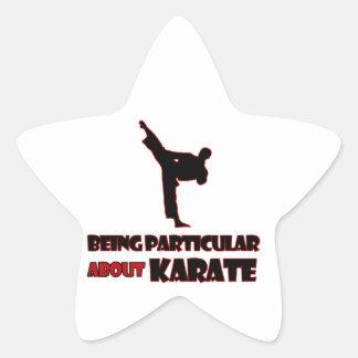 diseños     del karate pegatina en forma de estrella