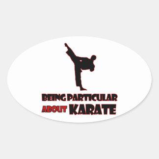 diseños     del karate pegatina ovalada
