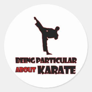 diseños     del karate pegatina redonda