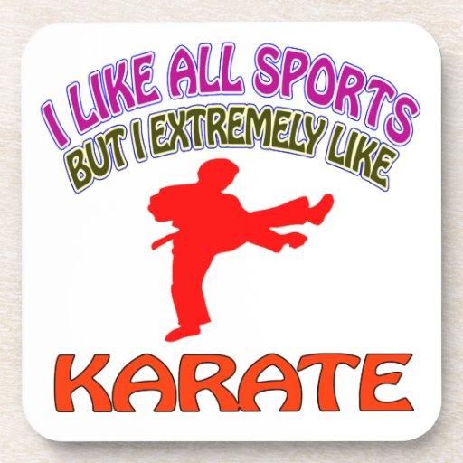 Diseños del karate posavasos