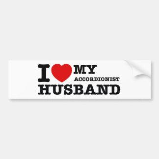 Diseños del marido del acordeonista pegatina de parachoque