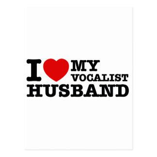 Diseños del marido del vocalista postales