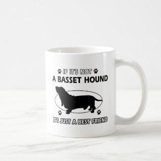 Diseños del mejor amigo de BASSET HOUND Taza De Café