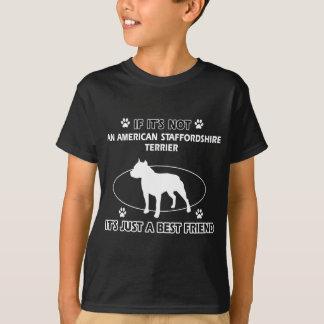Diseños del mejor amigo de STAFFORDSHIRE TERRIER Remeras