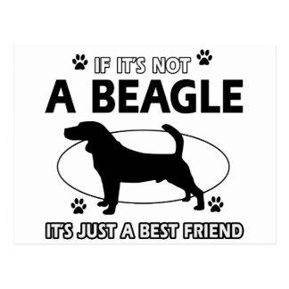 Diseños del mejor amigo del BEAGLE Tarjeta Postal