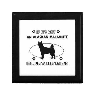 Diseños del mejor amigo del MALAMUTE DE ALASKA Caja De Regalo
