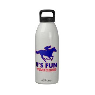 diseños del montar a caballo botella de agua reutilizable