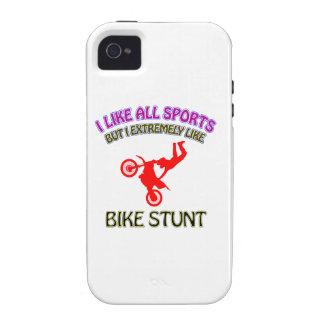 Diseños del montar a caballo de la bici Case-Mate iPhone 4 fundas