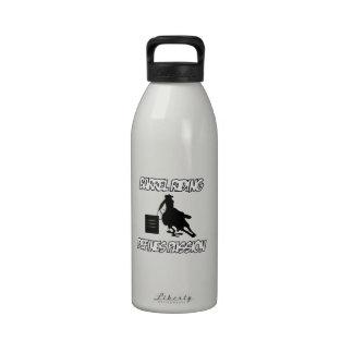 diseños del montar a caballo del barril botella de agua reutilizable