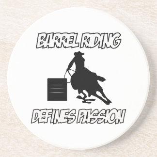 diseños del montar a caballo del barril posavasos manualidades