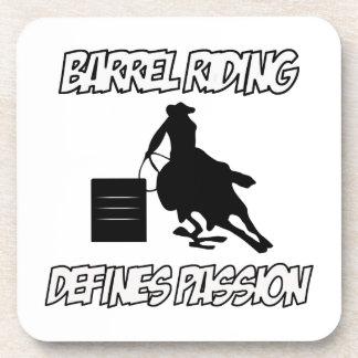 diseños del montar a caballo del barril posavasos
