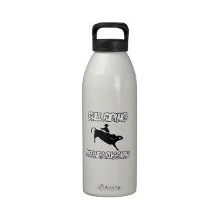 diseños del montar a caballo del toro botellas de beber
