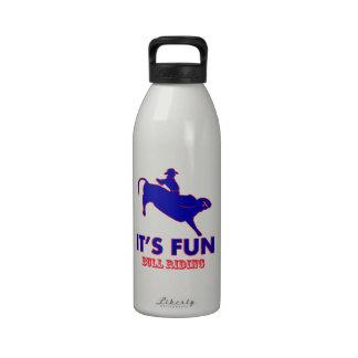 diseños del montar a caballo del toro botella de agua reutilizable