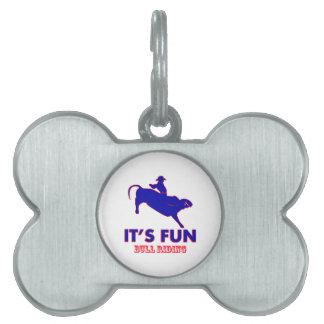 diseños del montar a caballo del toro placas de mascota