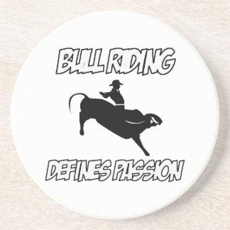 diseños del montar a caballo del toro posavasos diseño