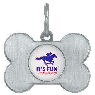 diseños del montar a caballo placa mascota