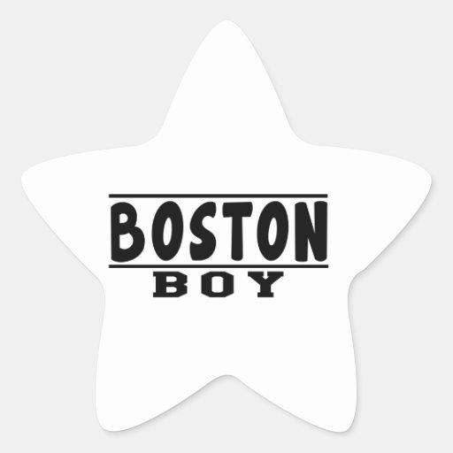 Diseños del muchacho de Boston Etiquetas