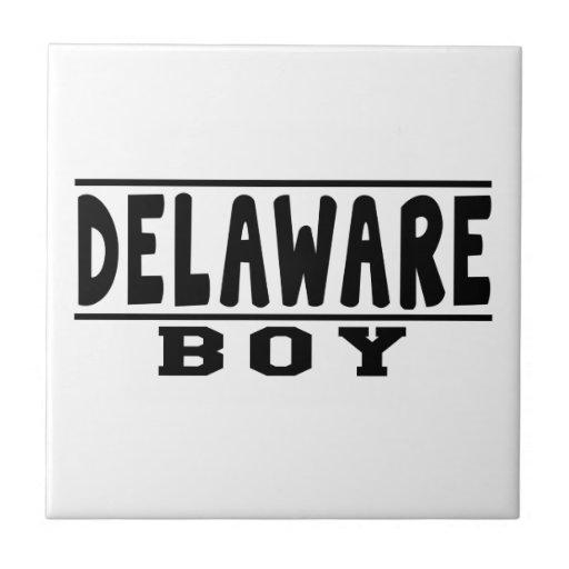 Diseños del muchacho de Delaware Azulejos Ceramicos