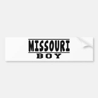 Diseños del muchacho de Missouri Pegatina De Parachoque