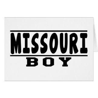 Diseños del muchacho de Missouri Tarjeta De Felicitación