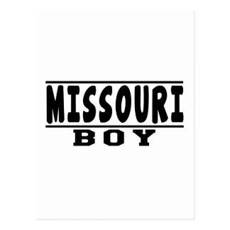 Diseños del muchacho de Missouri Tarjeta Postal