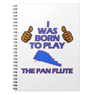 diseños del Musical de la flauta de la cacerola Libro De Apuntes Con Espiral