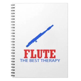 Diseños del Musical de la flauta Libro De Apuntes Con Espiral