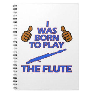 diseños del Musical de la flauta Notebook